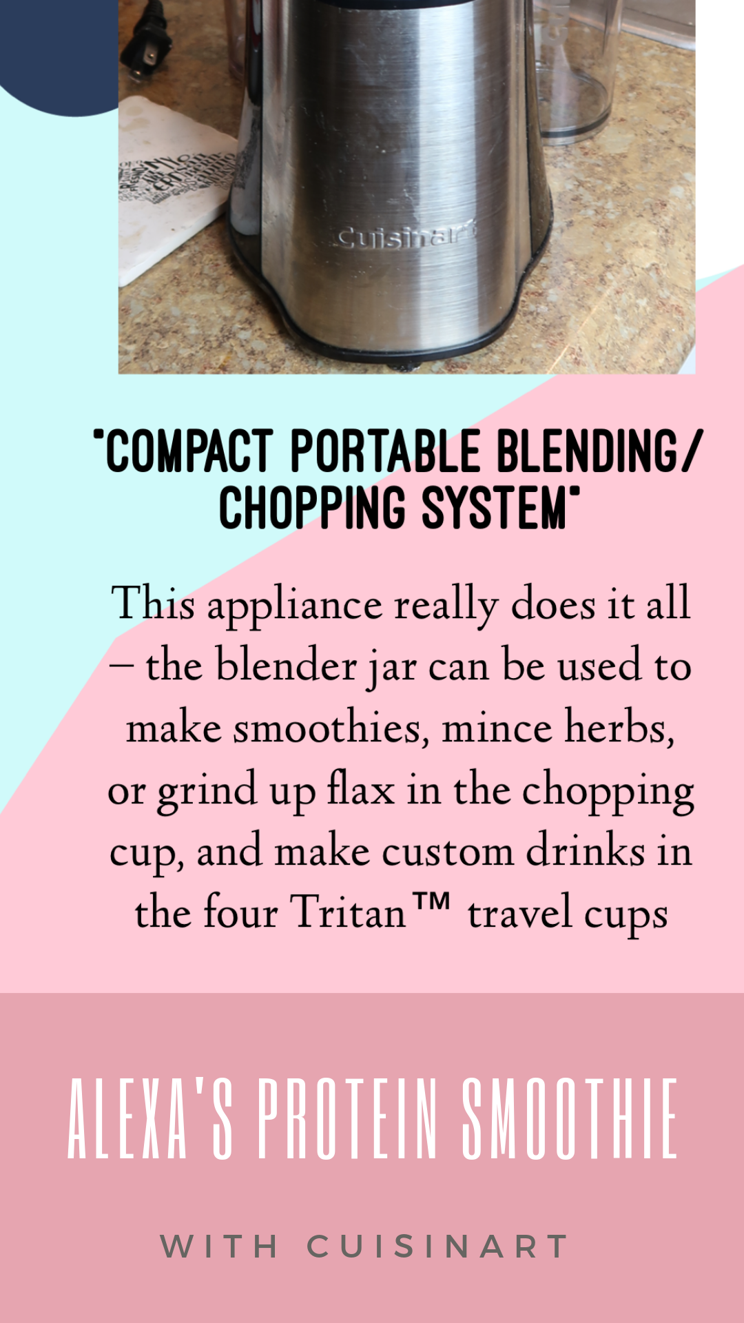 Alexa's Morning Protein Smoothie with Cuisinart
