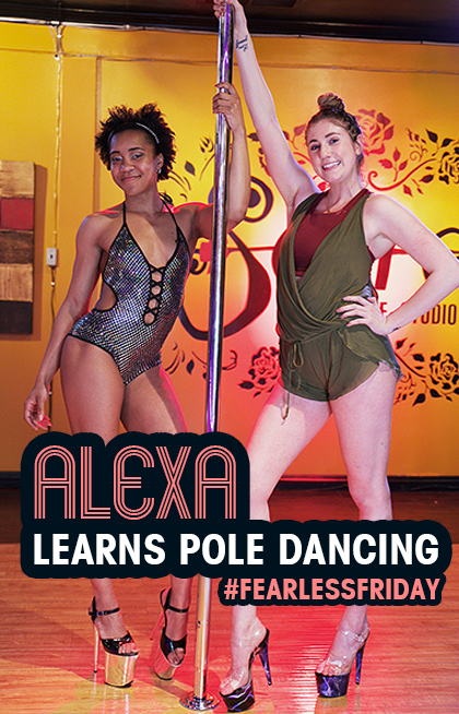 #FearlessFridays Learning How To Pole Dance